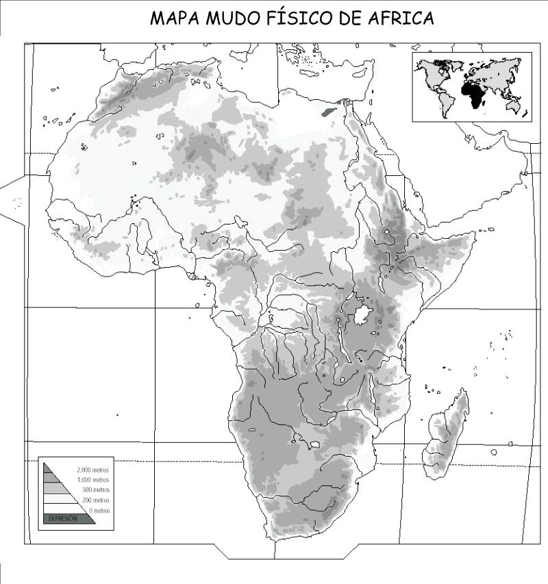 Mapa Fisico Africa Mudo Blanco Y Negro.Mapa Mudo Fisico Del Mundo En Blanco Y Negro Imagui